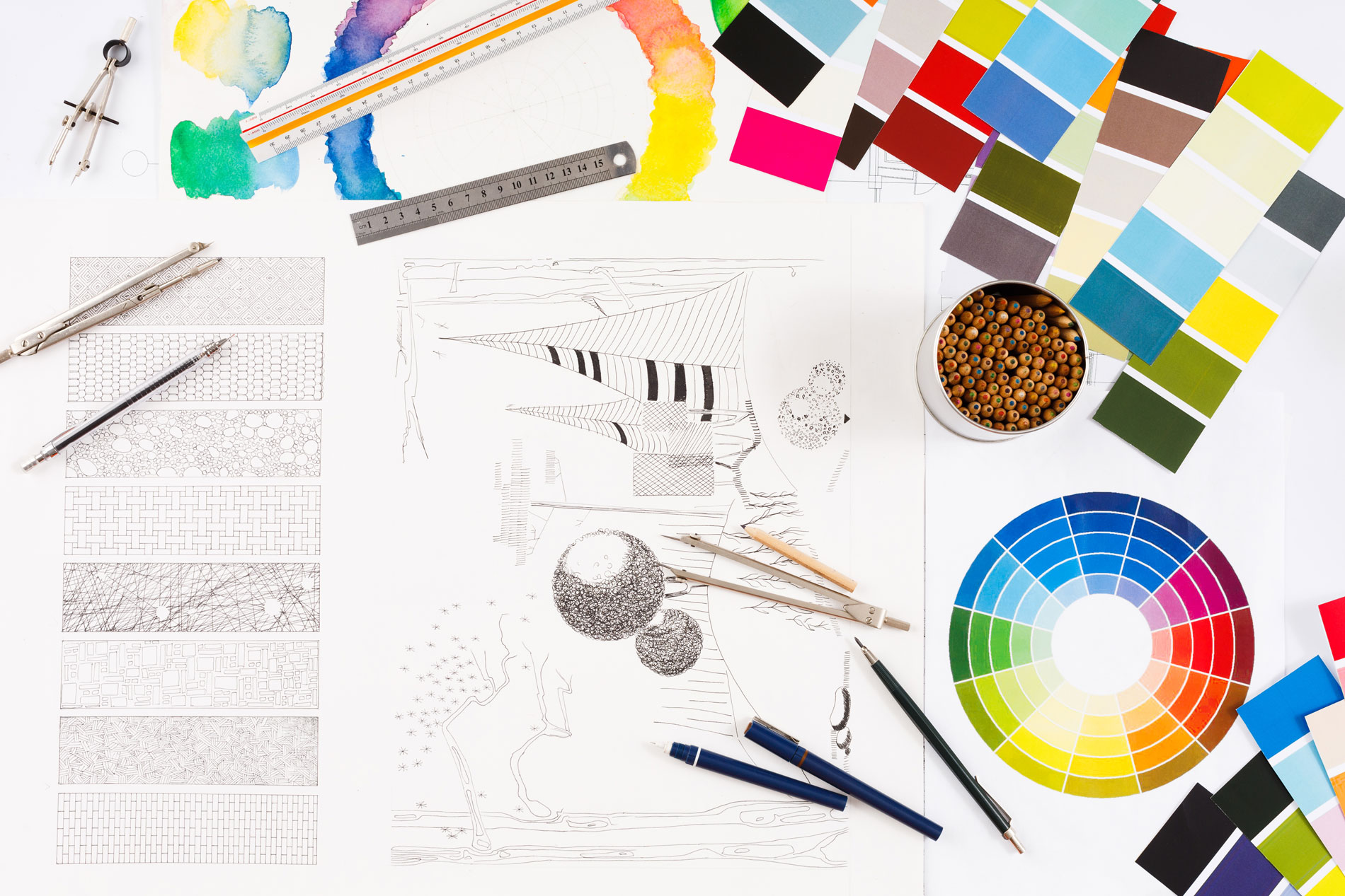 próbniki kolorów projektowanie wnętrz